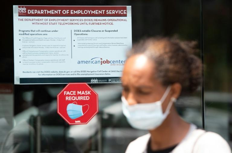 New weekly claims for jobless benefits in the United States have fallen below one million for the first time since March