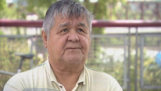 Elder Frank Badger, 71, was forced to go to St. Michael's IndianResidential School in Duck Lake, Sask., where he remained for 10 years between 1955 and 1965.  (Chanss Lagaden/CBC - image credit)