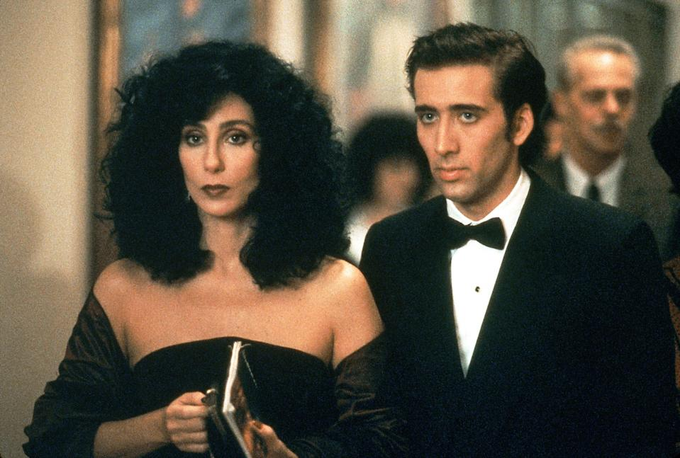 """<p>""""Snap out of it!"""" A great line from a great rom-com in which Cher plays a Brooklyn woman who falls in love with her fiancé's brother.</p> <p><em>Available to rent on</em> <a href=""""https://www.amazon.com/Moonstruck-Cher/dp/B003U2Q3ME"""" rel=""""nofollow noopener"""" target=""""_blank"""" data-ylk=""""slk:Amazon Prime Video"""" class=""""link rapid-noclick-resp""""><em>Amazon Prime Video</em></a>.</p>"""