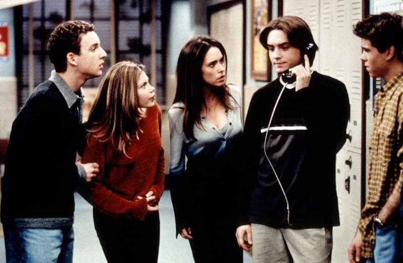 BOY MEETS WORLD, Ben Savage, Danielle Fishel, Jennifer Love Hewitt, Will Friedle, Matthew Lawrence, Season 5, Ep. 'And Then There Was Shawn, 1998. 1993-2000. (c) Buena Vista Television/ Courtesy: Everett Collection.