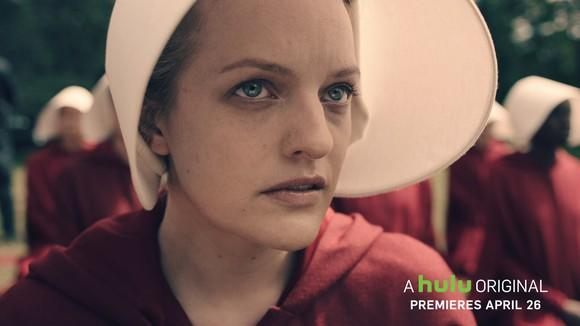 A still of actress Elisabeth Moss from Hulu original
