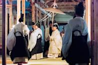 Japan's Emperor Naruhito attends the 'Daijosai' at the Imperial Palace in Tokyo