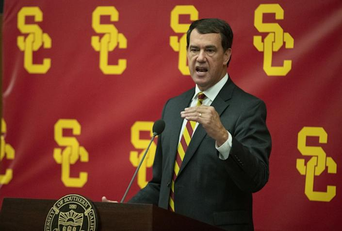 "USC athletic director Mike Bohn. <span class=""copyright"">(Brian van der Brug / Los Angeles Times)</span>"
