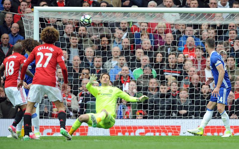 Manchester United's Ander Herrera, not in picture, scores his side's second goal - Credit: AP