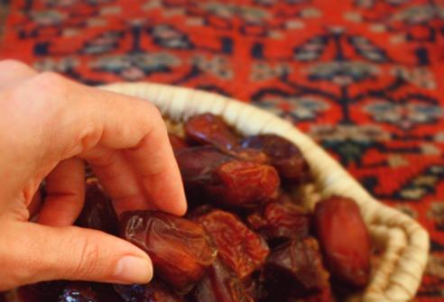 So he is not late for his date. Many people break their fast with the sugary fruit; it's believed the prophet Mohammed also broke his fast in this same way, making the practice a way of supplying energy and honoring tradition.