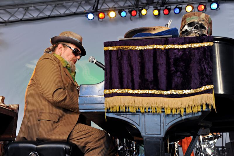 """Dr. John (Malcolm John """"Mac"""" Rebennack, Jr.) of Dr. John and the Lower 911 performs during day 3 of the Voodoo Experience at City Park on October 30, 2011, in New Orleans. (Photo by Amy Harris/Invision/AP)"""