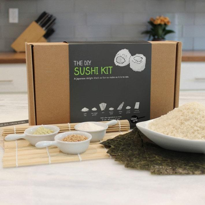 "Your best friend who spends most of her paycheck on sushi delivery can finally recreate it at home (and save some dough) with this easy-to-follow kit. She'll be flaunting her newfound skill on #FoodTikTok in no time. $40, Williams Sonoma. <a href=""https://www.williams-sonoma.com/products/diy-sushi-kit/"" rel=""nofollow noopener"" target=""_blank"" data-ylk=""slk:Get it now!"" class=""link rapid-noclick-resp"">Get it now!</a>"