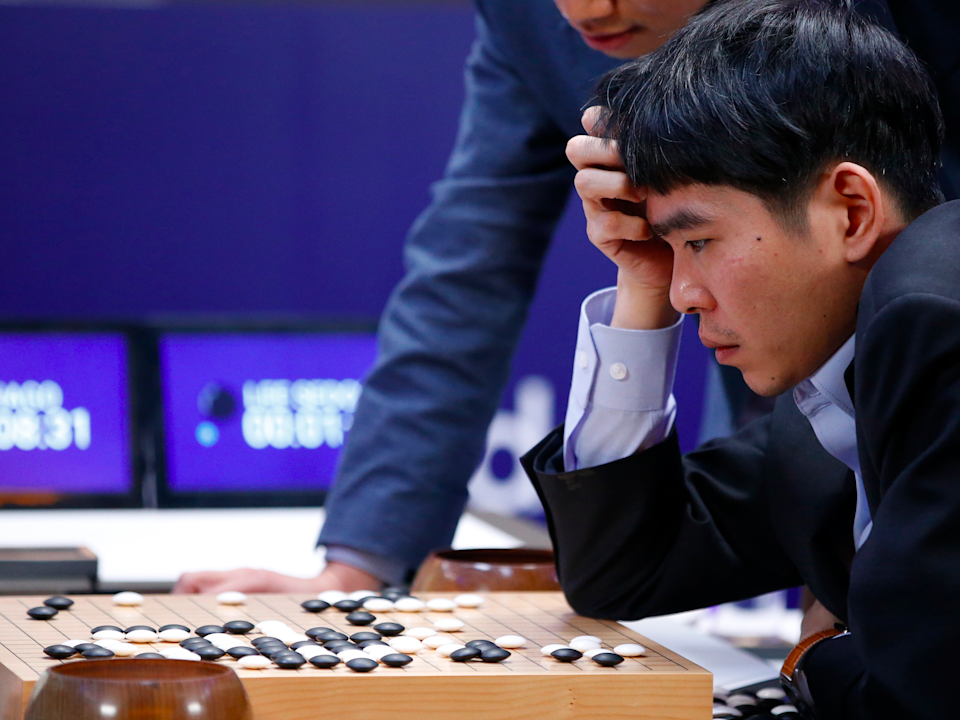 Professional Go player Lee Sedol.