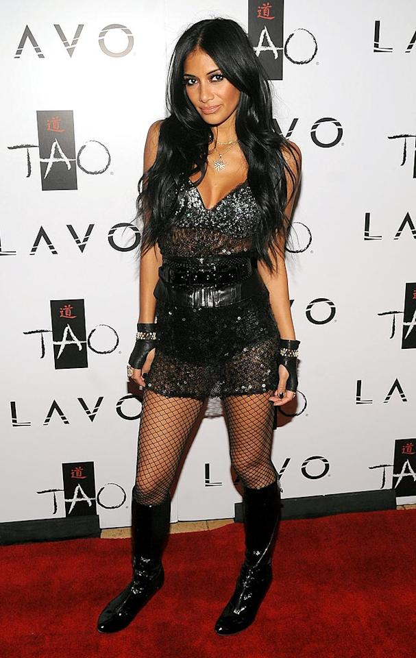 """Let's hope lead Pussycat Doll, Nicole Scherzinger, was performing at the party. Otherwise, her ensemble was a little over the top! Jamie McCarthy/<a href=""""http://www.wireimage.com"""" target=""""new"""">WireImage.com</a> - October 3, 2009"""
