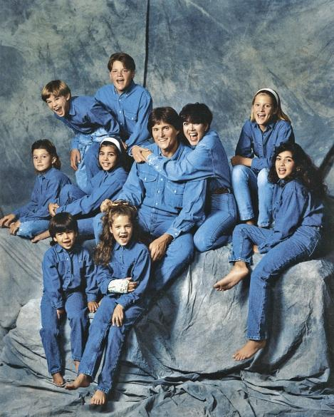 A Kardashian/Jenner family 1991 portrait with Khloé, front row, right
