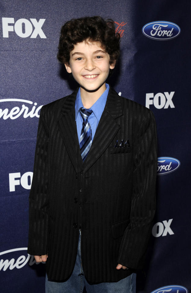 "David Mazouz of ""<a href=""http://tv.yahoo.com/show/47812/"">Touch</a>"" attends the Season 11 ""<a href=""http://tv.yahoo.com/american-idol/show/34934"">American Idol</a>"" Top 13 Finalists Party on Thursday, March 1 at The Grove in Los Angeles, CA."