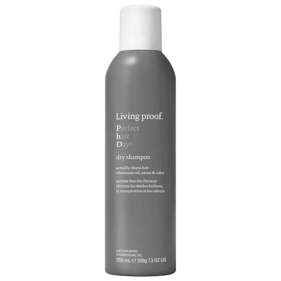 <p>If you're going <em>just one more day</em> without water touching your scalp, this popular <span>Living Proof Perfect hair Day (PhD) Dry Shampoo</span> ($14-$36) is a quick refresher. Not only are there sweat- and oil-absorbing powders alongside odor neutralizers, but this dry shampoo also has the brand's patented healthy hair molecule that lets these substances (and whatever dirt they've absorbed) easily rinse out afterward.</p>
