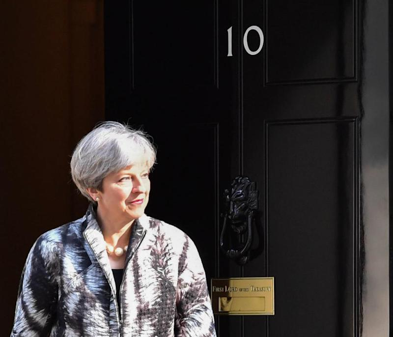 Politicians meet at Downing Street, London, UK - 20 Apr 2017Mandatory Credit: Photo by Alan Davidson/SilverHub/REX/Shutterstock (8620284n) Theresa May Politicians meet at Downing Street, London, UK - 20 Apr 2017