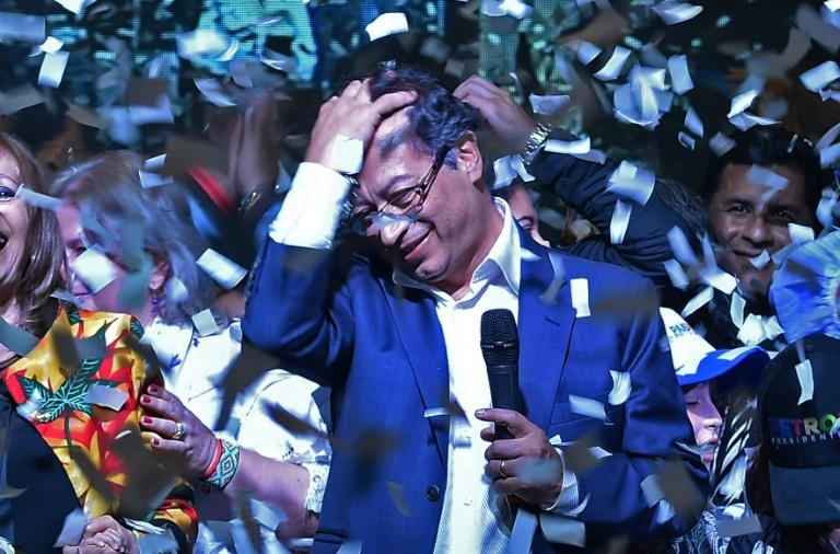 Leftist presidential candidate Gustavo Petro speaks after his defeat by Duque