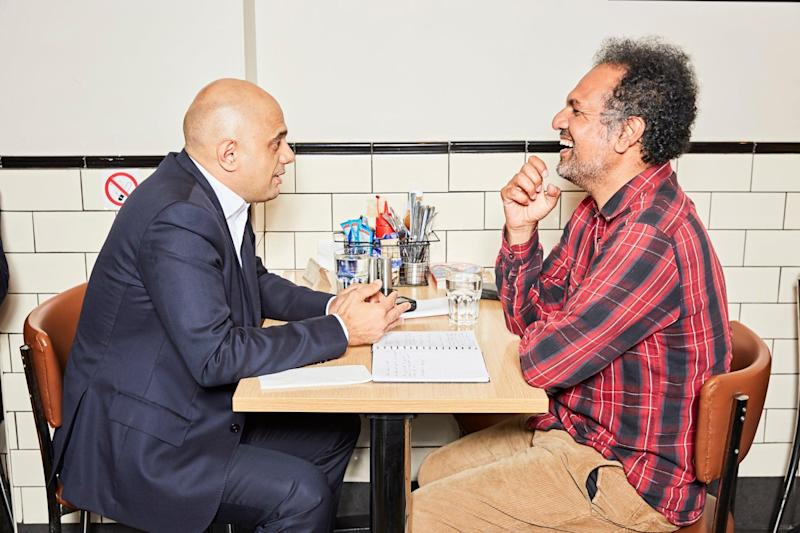 The chips are down: Sajid Javid shares his thoughts (and his dinner) with Sarfraz Manzoor