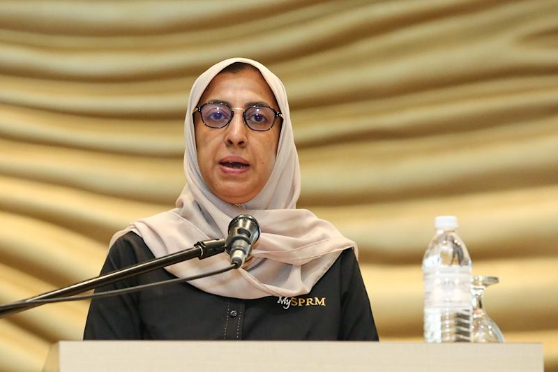 Malaysian Anti-Corruption Commission chief Latheefa Koya speaks during the Regional Workshop on Promoting Beneficial Ownership Transparency in Southeast Asia in Kuala Lumpur July 22, 2019. — Picture by Yusof Mat Isa