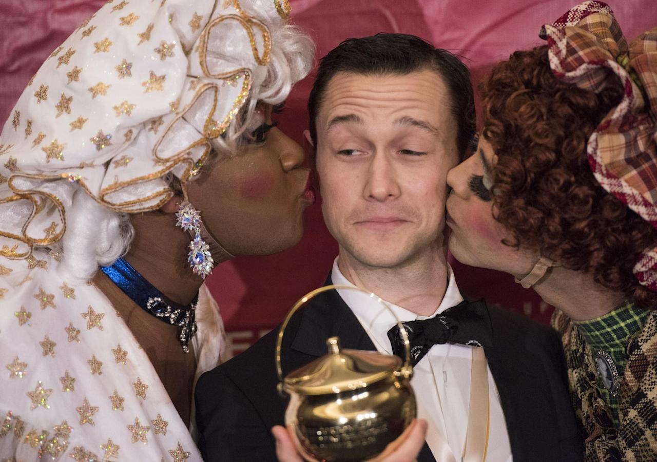 CAMBRIDGE, MA-FEBRUARY 5: Joseph Gordon-Levitt is honored as the 2016 Hasty Pudding Man of the Year on February 5, 2016 in Cambridge, Massachusetts. (Photo by Michael J. Ivins/Getty Images)