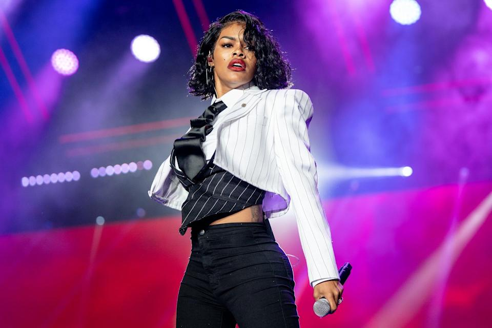 NEW ORLEANS, LOUISIANA - JULY 07: Teyana Taylor performs at the 25th Essence Festival at the Mercedes-Benz Superdome on July 07, 2019 in New Orleans, Louisiana. (Photo by Josh Brasted/FilmMagic)