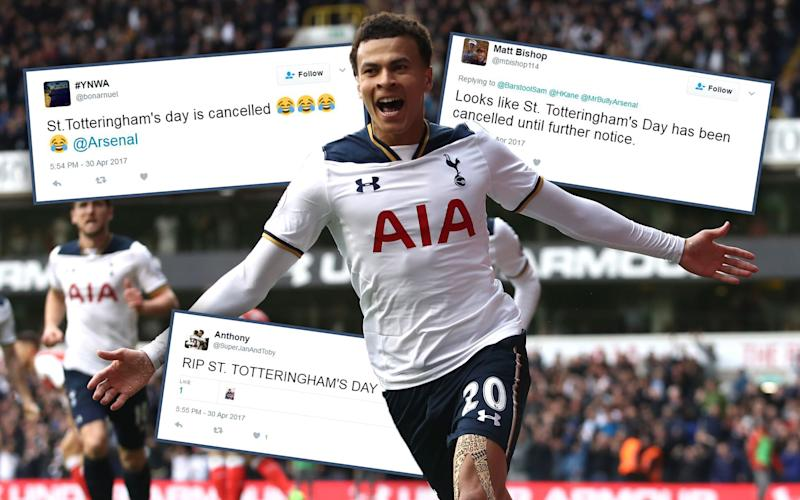 St Totteringham's Day cancelled: but what should the Spurs' version be called? - 2017 Getty Images
