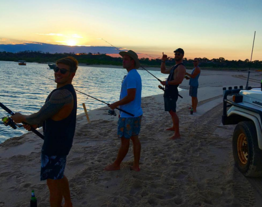 "<p>The <i>Thor</i> star, who relocated his family back to his native Australia for all of its outdoor offerings, enjoyed ""a little sunset fish with the boys"" in the Kimberley region in June 2016. Boys, beers, and bobbers — oh, boy! (Photo: <a href=""https://www.instagram.com/p/BG50o1ZyJdQ/?taken-by=chrishemsworth&hl=en"" rel=""nofollow noopener"" target=""_blank"" data-ylk=""slk:Chris Hemsworth via Instagram"" class=""link rapid-noclick-resp"">Chris Hemsworth via Instagram</a>) </p>"