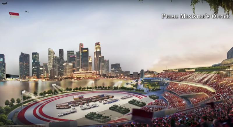NS Square will hold future National Day Parades said Prime Minister Lee Hsien Loong in his National Day message on 9 August 2020. (SCREENSHOT: Prime Minister's Office/YouTube)