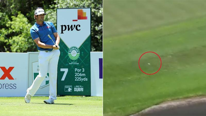 Elvira's shot was destined to end up in the drink. Pic: Getty/European Tour