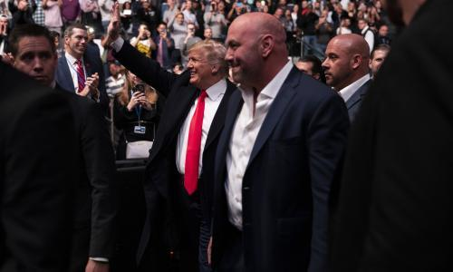 Donald Trump may have been booed in New York but UFC is his friend