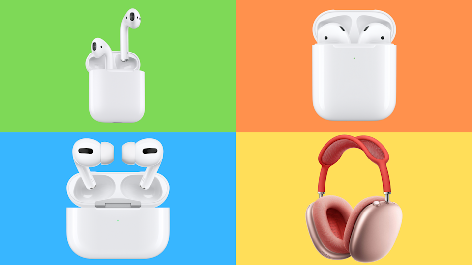The four faces of Apple's AirPods & # x002014;  everything is amazing and everything on sale.  (Photo: Apple)