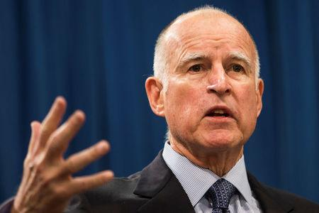 FILE PHOTO - California Governor Brown speaks in Sacramento