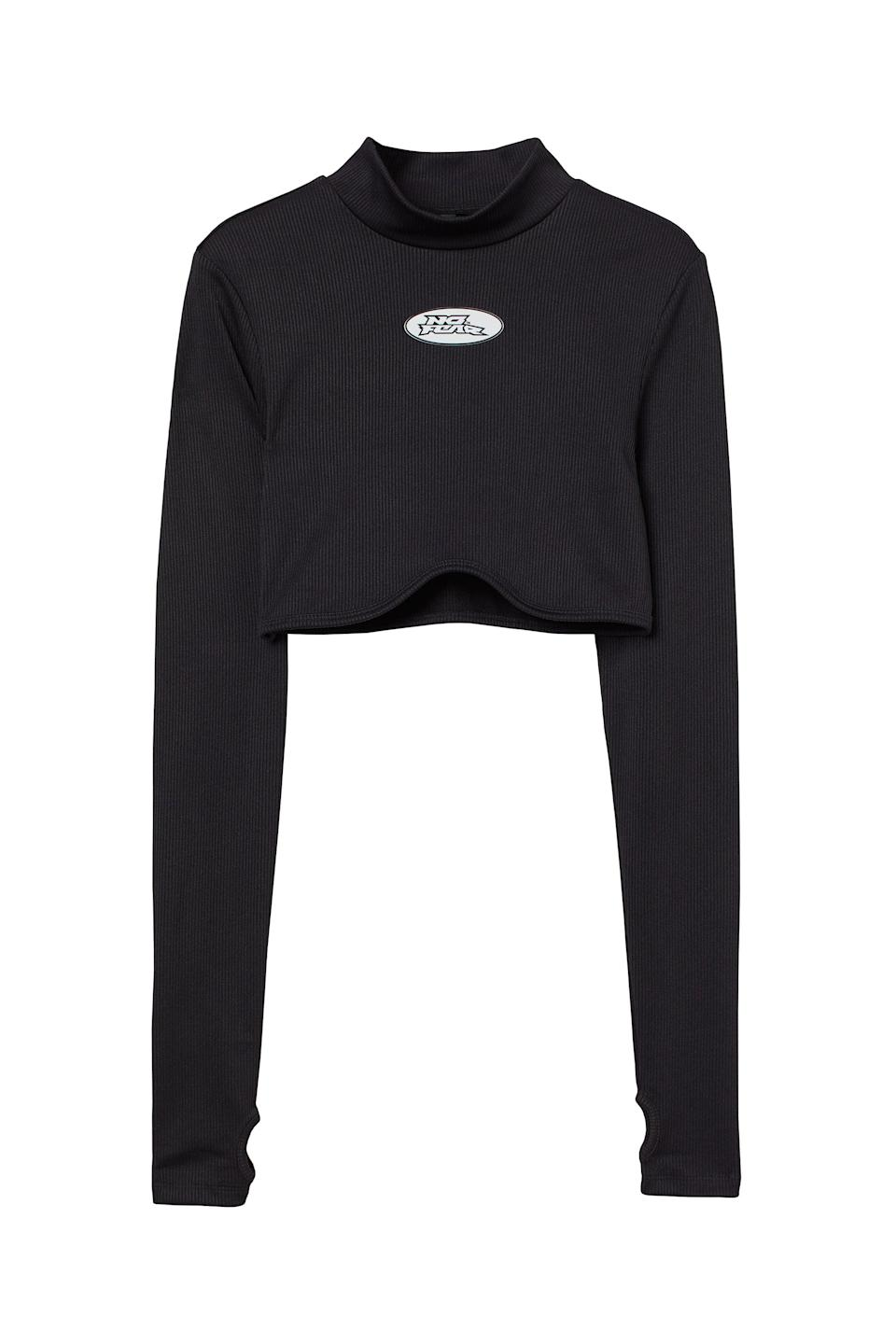 <p>This <span>No Fear x H&amp;M Long-sleeved Crop Top</span> ($18) is always a good thing to have in your wardrobe. The mock neck is great for fall.</p>