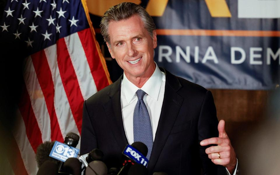 Gavin Newsom has comfortably won more than 50 per cent of the vote, according to US media projections - REUTERS
