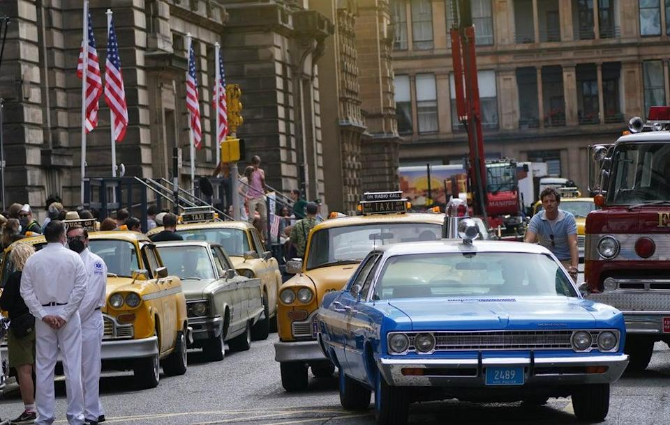 Glasgow was given an American makeover during filming for the yet to be released new Indiana Jones movie (Andrew Milligan/PA) (PA Wire)
