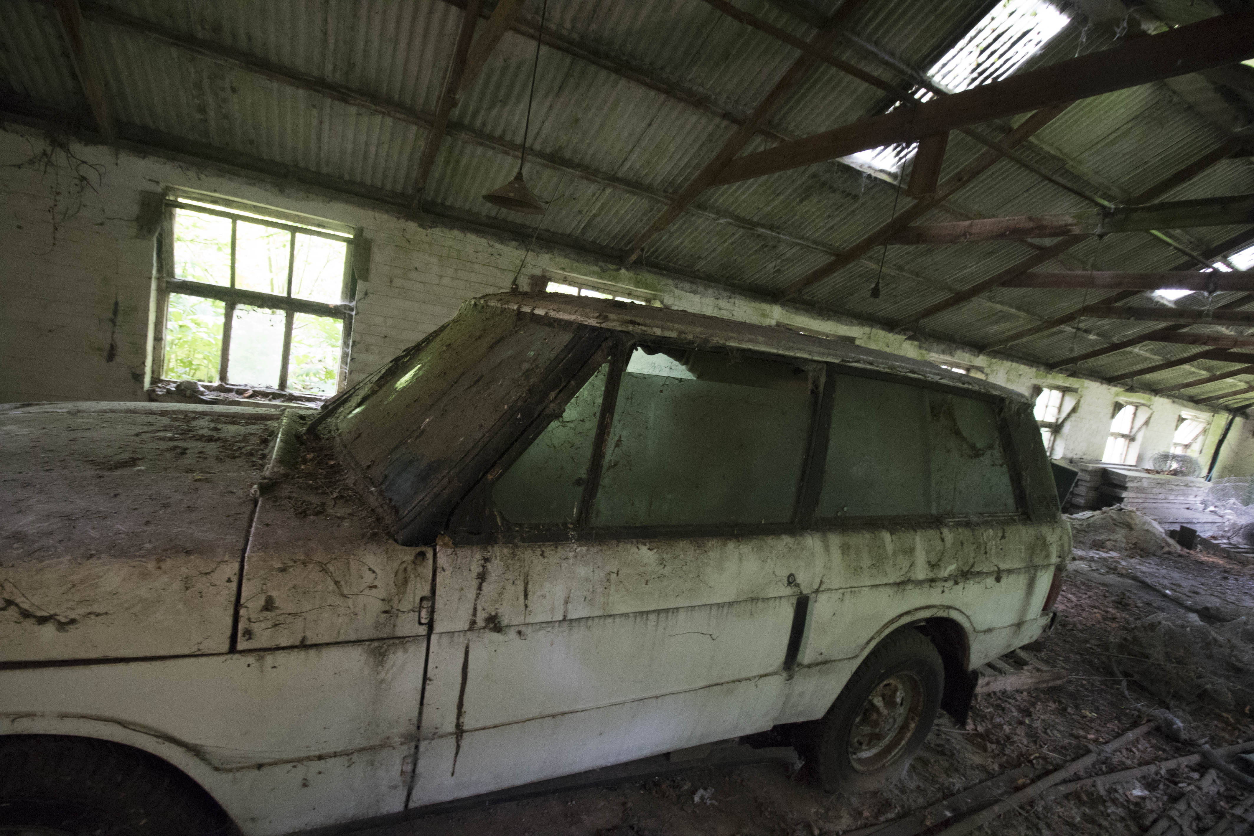 A Range Rover was found abandoned in one of the outbuildings (Caters)