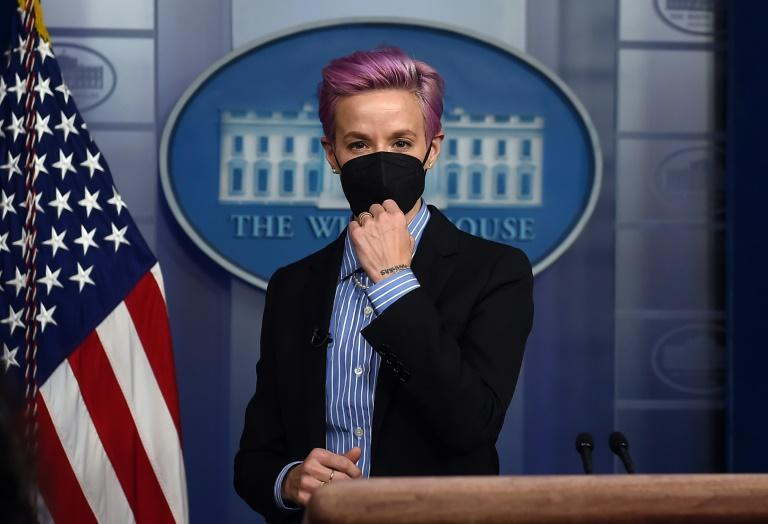 US soccer player Megan Rapinoe is a member of a coalition of athletes who have rallied behind plaintiff Lindsay Hecox