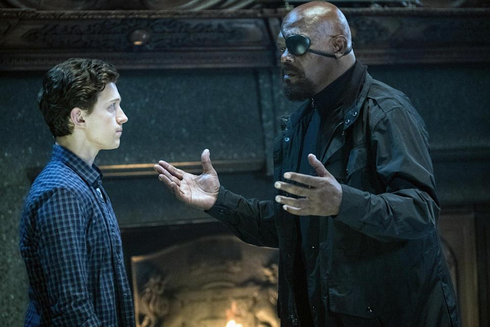 Nick Fury and Spider-Man together