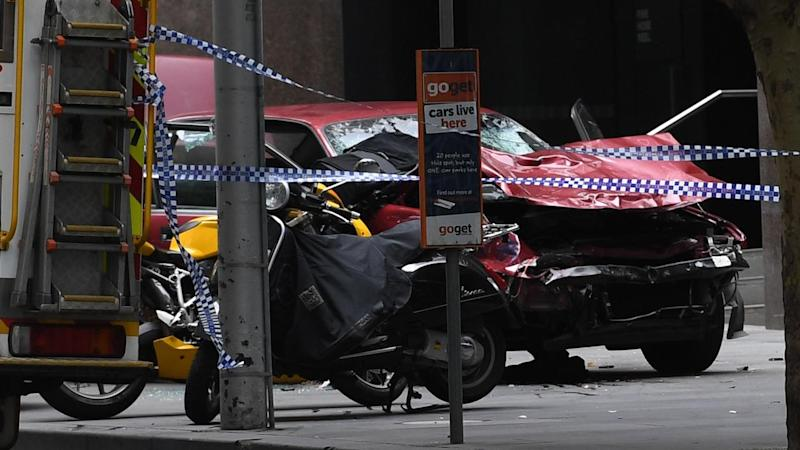 BOURKE ST MALL CAR ACCIDENT MELBOURNE