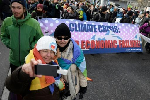 Climate activists urged politicians and big business to clean up their act as they set off on a three-day march ahead of the World Economic Forum in Davos