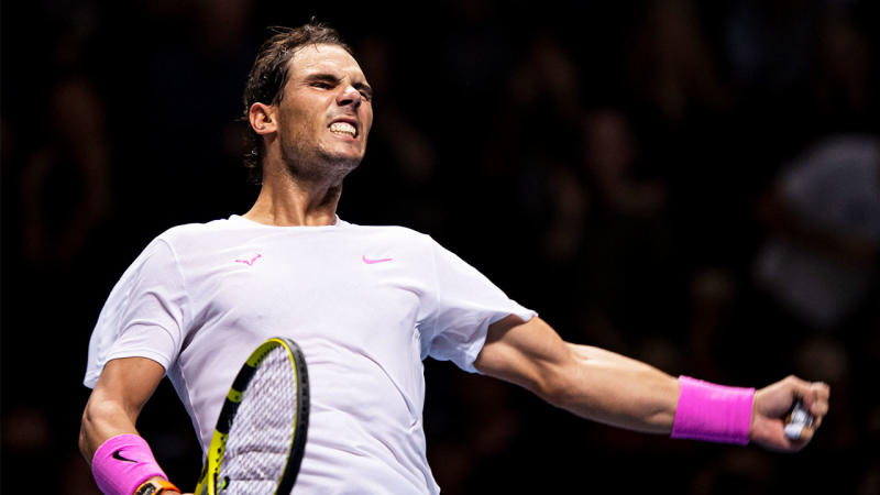 Rafael Nadal became the first person to win the Mubadala World Tennis Championship five times. (Getty Images)