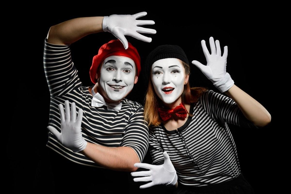 "Another last-minute costume that incorporates red, black, and white is the mime. If you already have a black-and-white striped shirt in your closet, then you have half of your costume ready to go. Just throw on some white face paint and white gloves the day of and you're all set. Oh, and the best part of this costume? You get the added joy of not having to engage in any small <a href=""https://bestlifeonline.com/most-memorable-oscars-fashion/?utm_source=yahoo-news&utm_medium=feed&utm_campaign=yahoo-feed"">talk</a> because, well, you're a mime—and mimes don't speak."