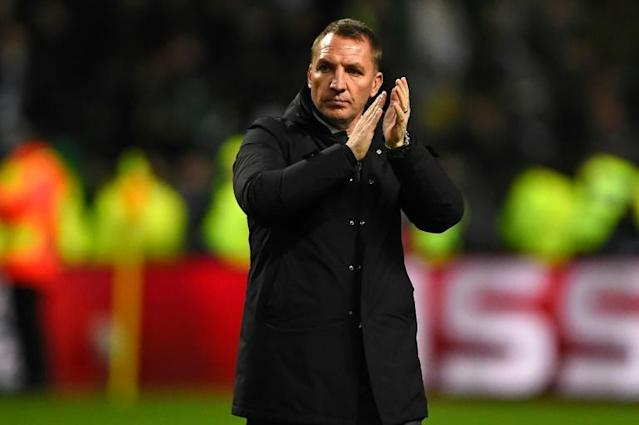 Celtic's boss Brendan Rodgers, pictured in December 2017, called out St Johnstone players after a goalless draw