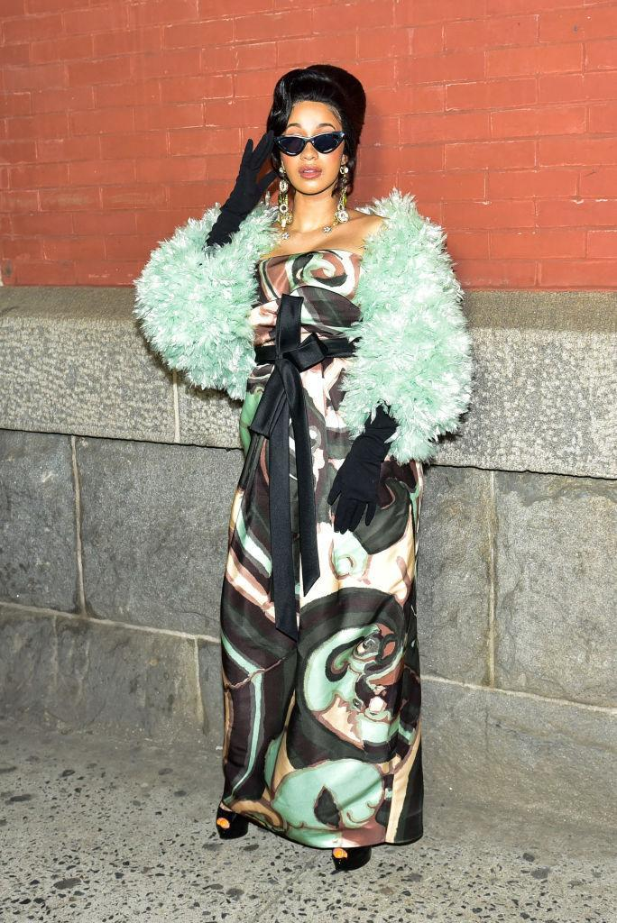 <p>Cardi B brought her fashion A game for the AW18 Michael Kors preview. <em>[Photo: Getty]</em> </p>