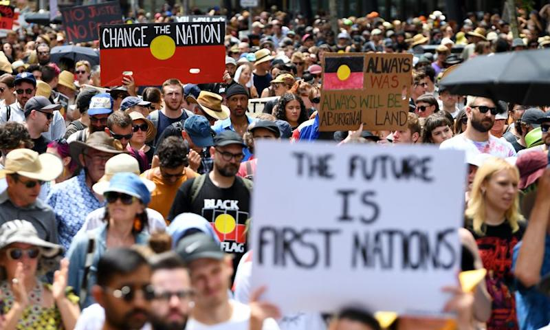 The Invasion Day rally in Melbourne