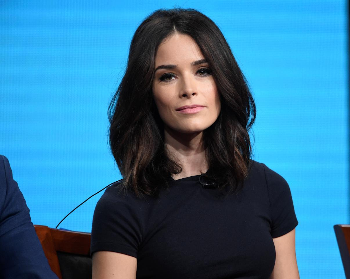 "Cast member Abigail Spencer answers questions during the panel for ""Timeless"" at the NBC Universal Television Critics Association press tour in Beverly Hills, California, U.S. August 2, 2016.  REUTERS/Phil McCarten"