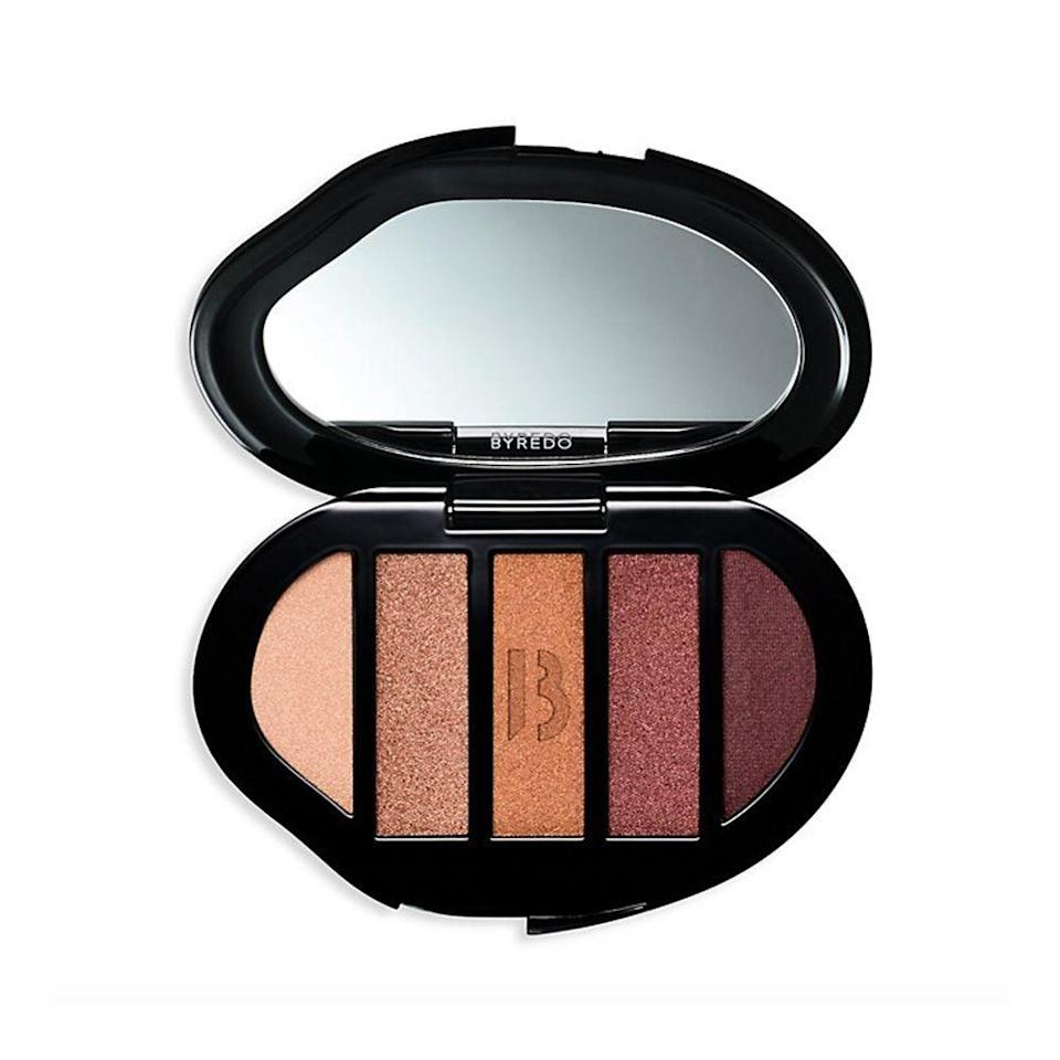 "<p><strong>byredo</strong></p><p>byredo.com</p><p><strong>$70.00</strong></p><p><a href=""https://www.byredo.com/us_en/eyeshadow-5-colours-dysco?gclid=CjwKCAjwmv-DBhAMEiwA7xYrd5yKjiNGDV3JlVS04iOpugI763Z0ict-U3CiMtPbBTZhnDUvomIVSRoC2AoQAvD_BwE"" rel=""nofollow noopener"" target=""_blank"" data-ylk=""slk:Shop Now"" class=""link rapid-noclick-resp"">Shop Now</a></p><p>The real show-stopper of this five-shade palette is its oyster shell gold packaging. </p>"
