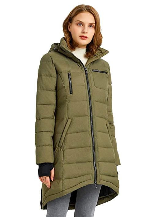 "<br><br><strong>Orolay</strong> Orolay Women's Down Jacket Coat Mid-Length, $, available at <a href=""https://amzn.to/3jQv6I9"" rel=""nofollow noopener"" target=""_blank"" data-ylk=""slk:Amazon"" class=""link rapid-noclick-resp"">Amazon</a>"