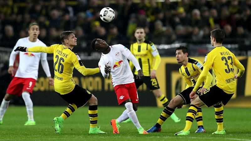 Borussia Dortmund 1 0 Rb Leipzig Aubameyang Silences Talk Of Future With Winner