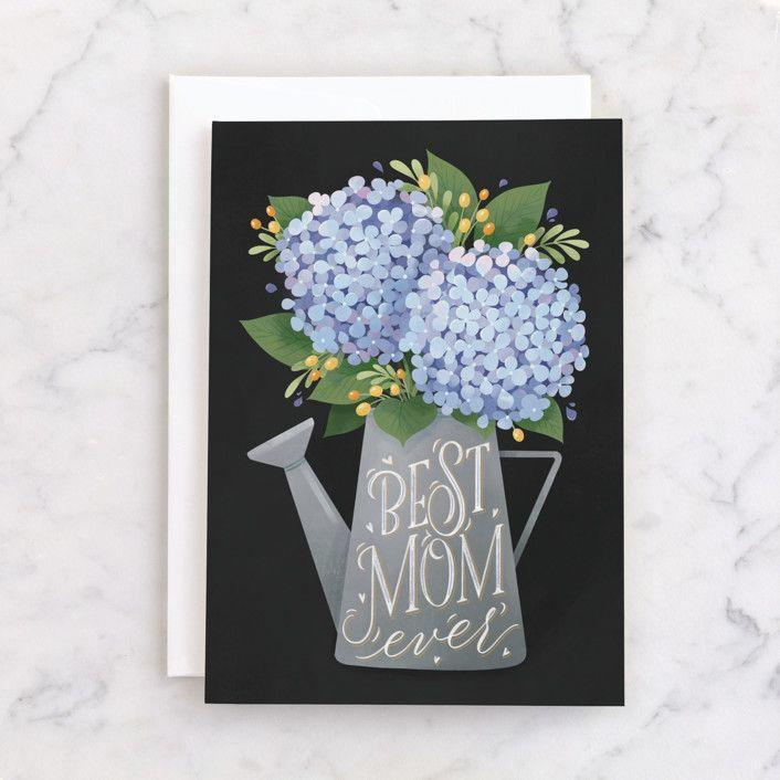 """<p><strong>Shannon Chen</strong></p><p>minted.com</p><p><strong>$6.98</strong></p><p><a href=""""https://go.redirectingat.com?id=74968X1596630&url=https%3A%2F%2Fwww.minted.com%2Fproduct%2Fmothers-day-cards%2FMIN-02Q-IMG%2Fhydrangea-bouquet&sref=https%3A%2F%2Fwww.townandcountrymag.com%2Fstyle%2Fg26929890%2Fbest-mothers-day-cards%2F"""" rel=""""nofollow noopener"""" target=""""_blank"""" data-ylk=""""slk:Shop Now"""" class=""""link rapid-noclick-resp"""">Shop Now</a></p><p>A fresh flower card is sure to brighten up her day. </p>"""