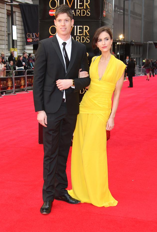 Katherine Kelly lit up the red carpet in her yellow dress / WENN