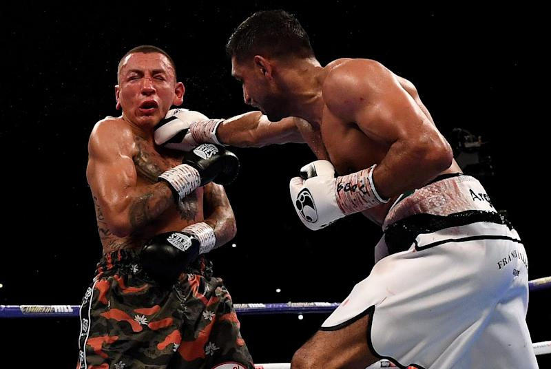 Khan beat Colombia's Samuel Vargas in September. (AFP/Getty Images)
