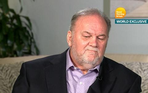 Thomas Markle, pictured here on Good Morning Britain in June, said his daughter had stopped taking his calls - Credit: REUTERS/REUTERS